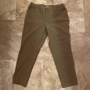 Isaac Mizrahi LIVE! Khaki Ankle Pants